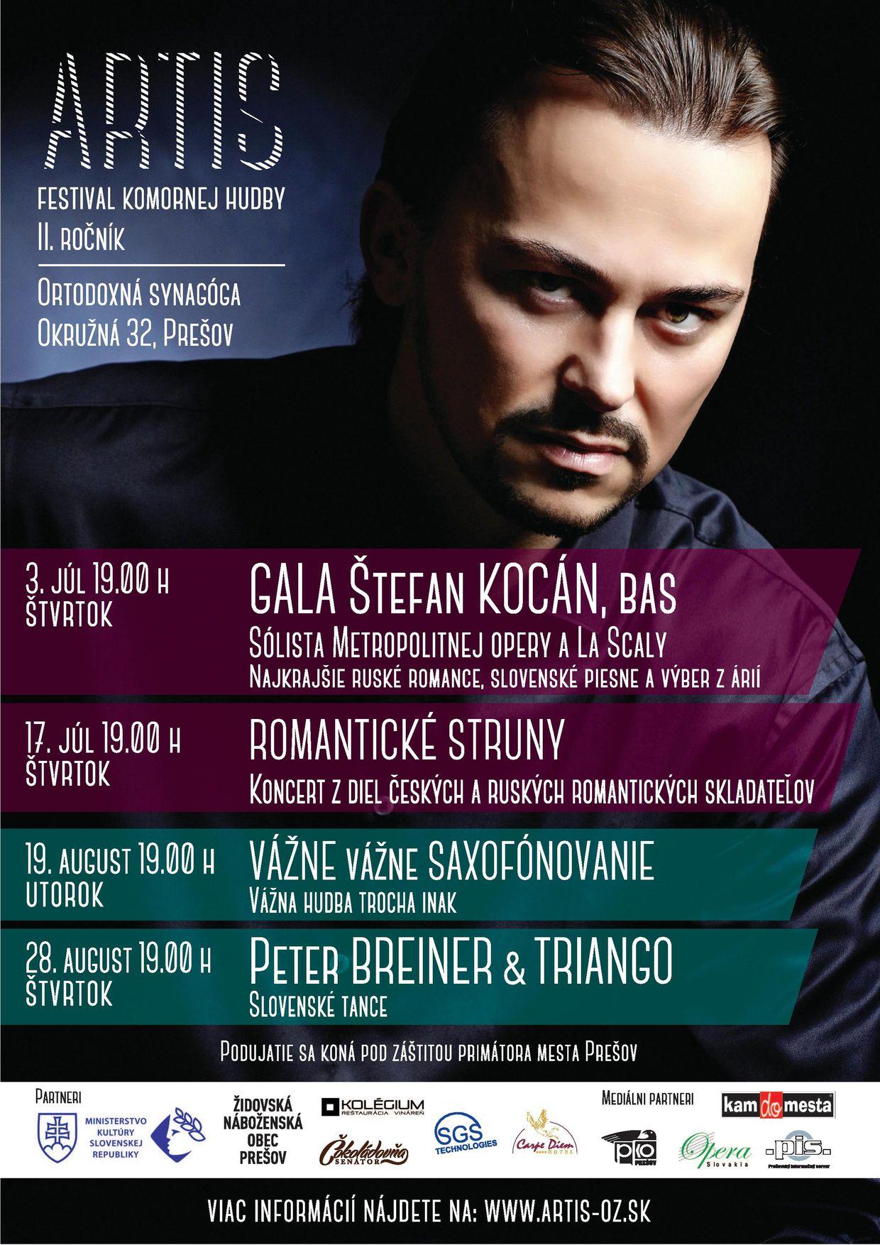 ARTIS festival komornej hudby 2014, II. ročník, plagát