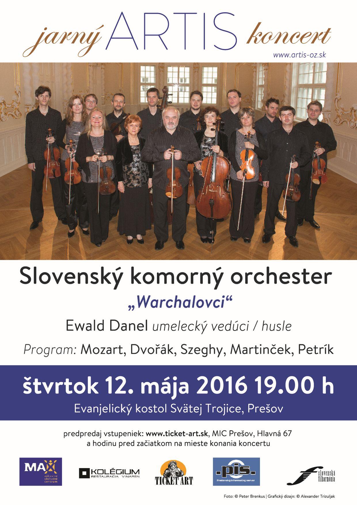 jarný ARTIS koncert, Slovenský komorný orchester, plagát